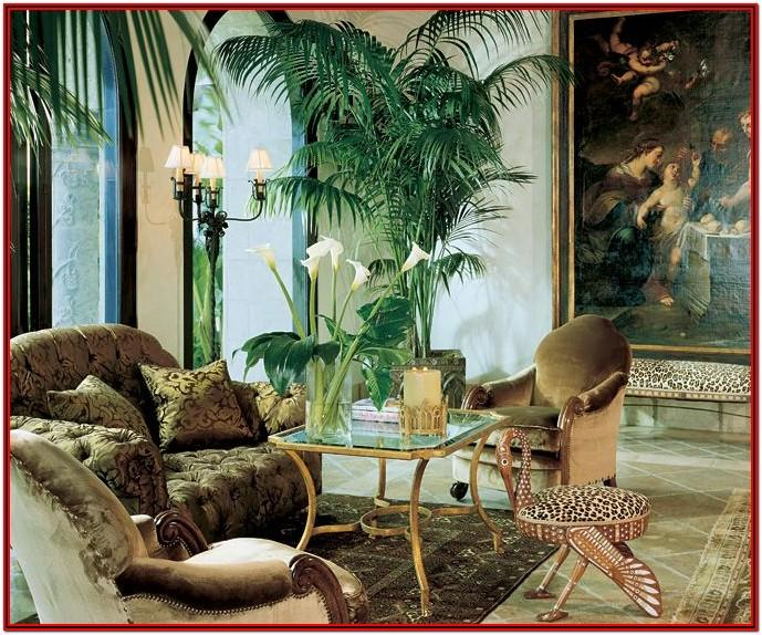 African Jungle Theme Living Room