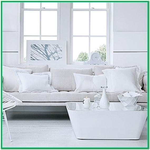 All White Contemporary Living Room Ideas