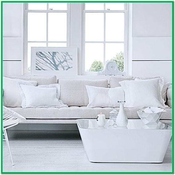 All White Contemporary Living Room Ideas