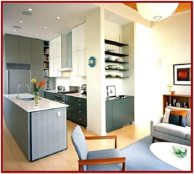 Apartment Small Kitchen Living Room Combo