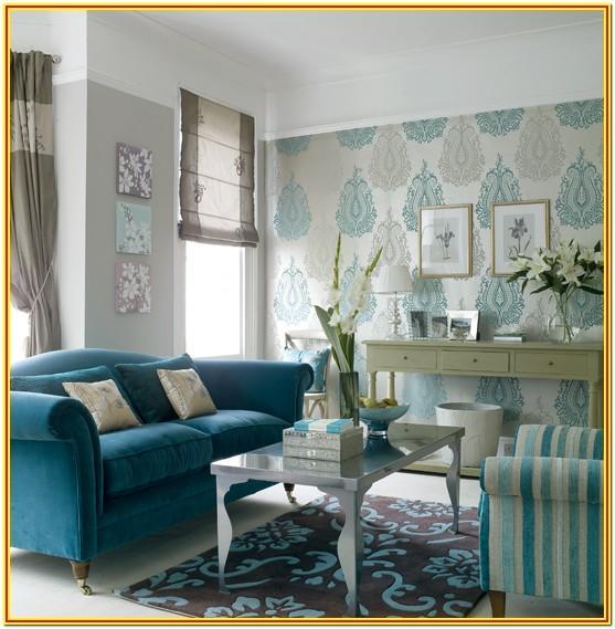 Aqua Blue Walls Living Room Ideas