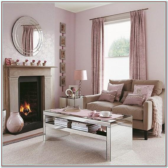 Beige Pink And Brown Living Room