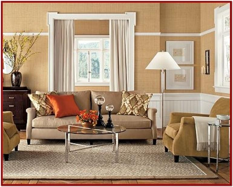 Beige Tan Walls Living Room