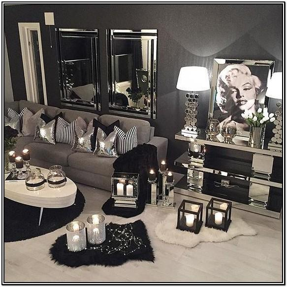 Black And Silver Living Room Curtains