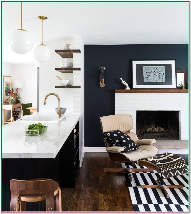 Black And White Living Room Ideas With Accent Color
