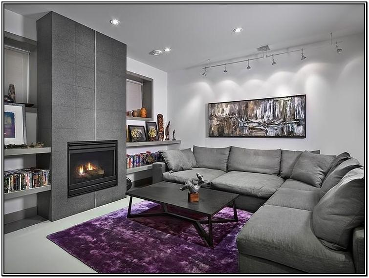 Black Purple And Gray Living Room Ideas