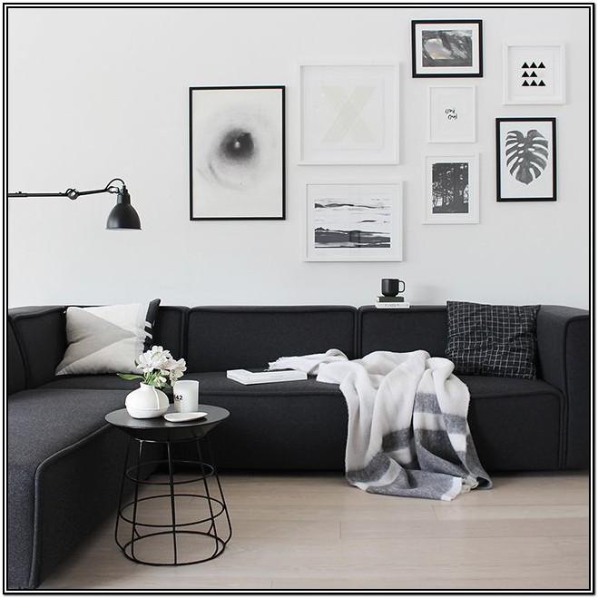 Black Sofa Living Room Decorating Ideas