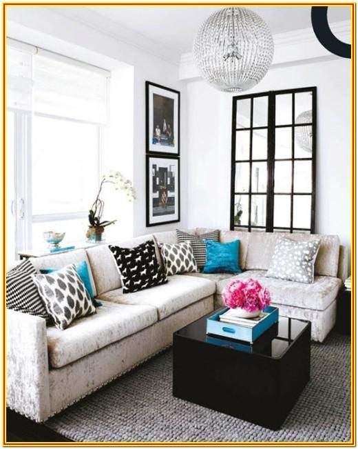 Black White Blue Living Room Ideas