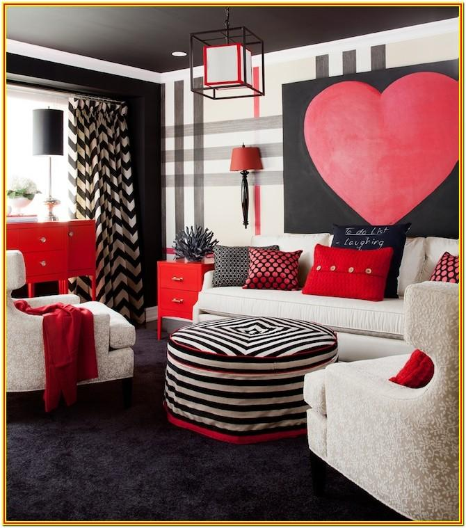 Black White Red Living Room Ideas