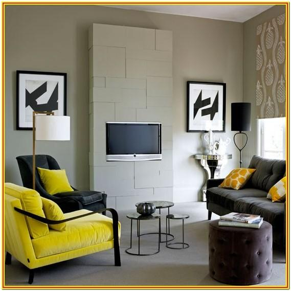Black White Yellow Living Room Ideas