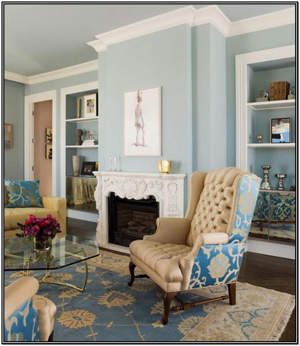 Blue And Beige Living Room Walls