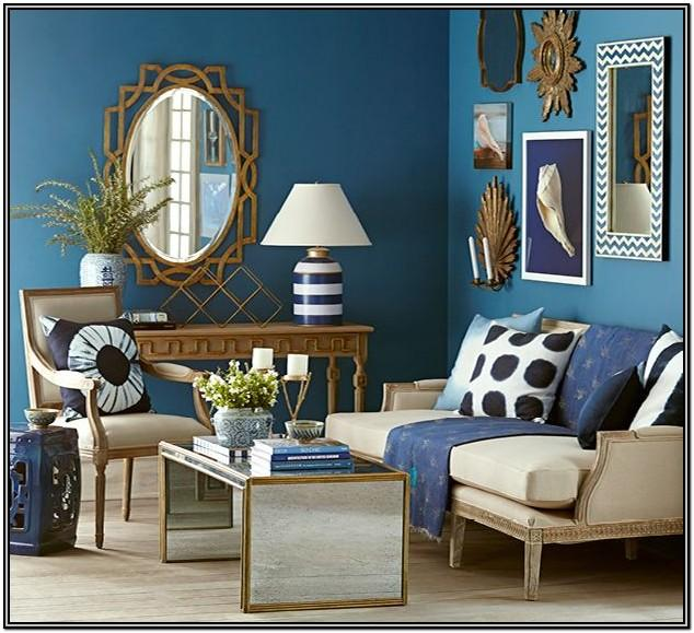Blue And Gold Living Room Accessories