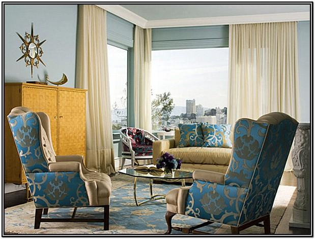 Blue And Gold Living Room Ideas