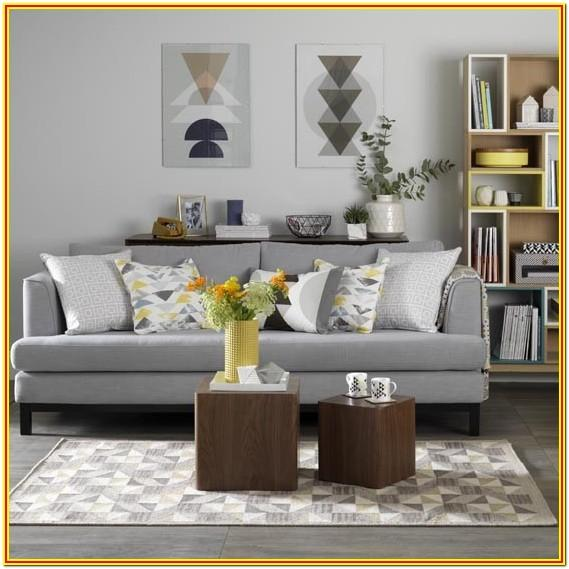 Blue And Mustard Living Room Ideas