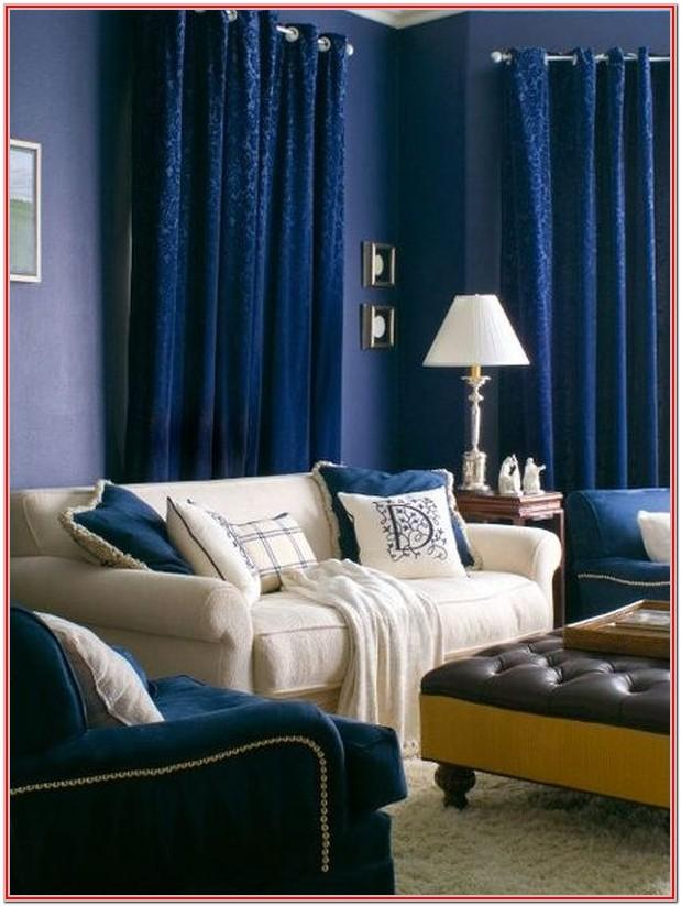 Blue Curtains Living Room Ideas