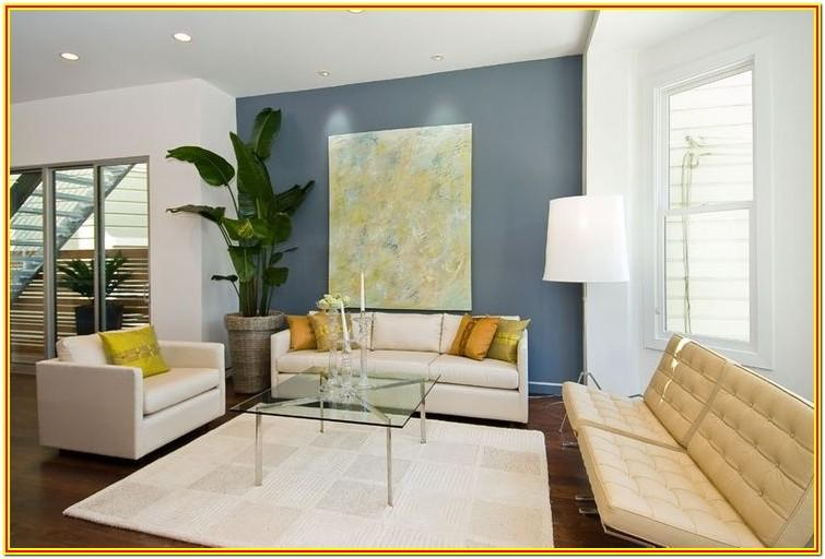Blue Feature Wall Living Room Ideas