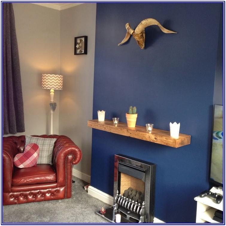 Blue Feature Wall Paint Ideas Living Room