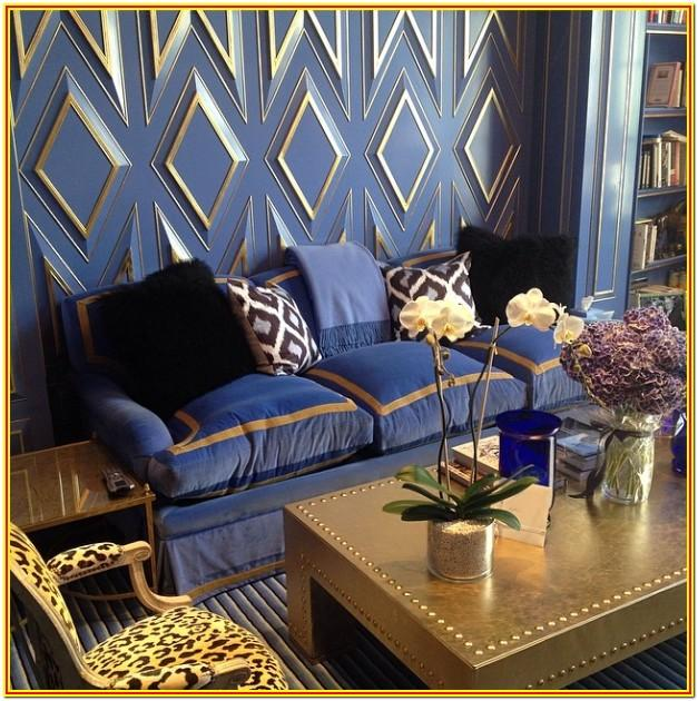 Blue Gray And White Living Room Ideas