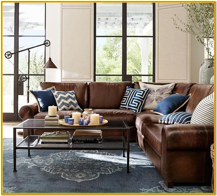 Blue Leather Sectional Living Room Ideas