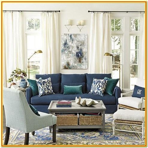Blue Leather Sofa Living Room Ideas