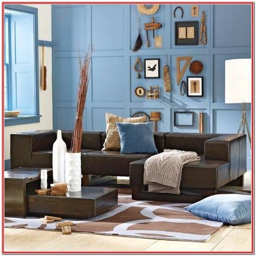 Blue Living Room Colors With Brown Furniture