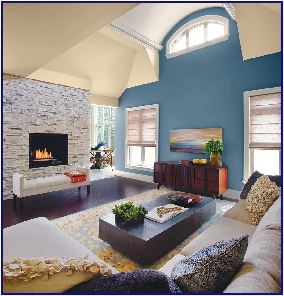 Blue Living Room Paint Ideas With Accent Wall