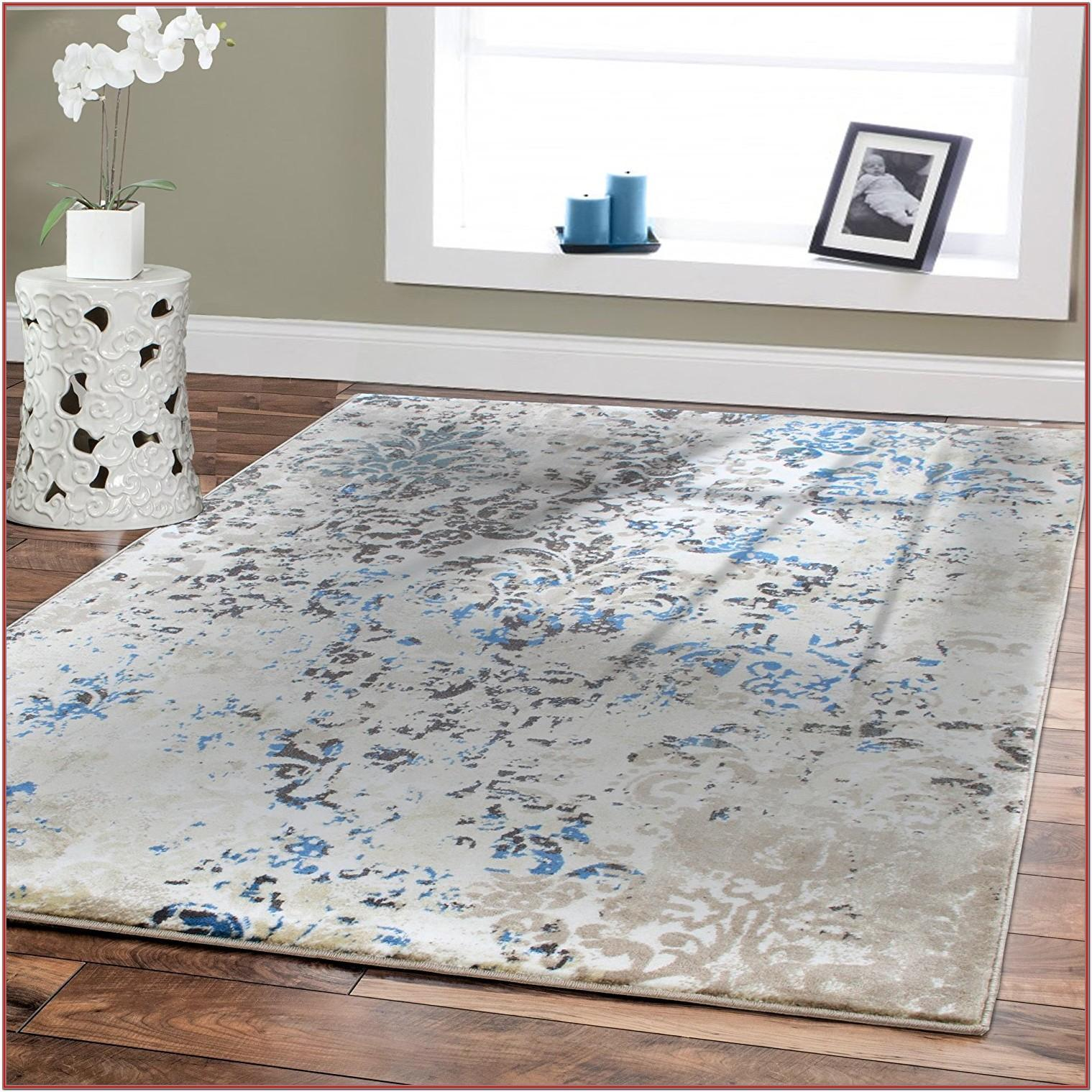 Blue Modern Living Room Rugs