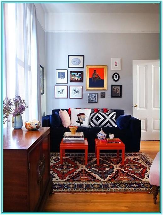 Blue Oriental Rug Living Room