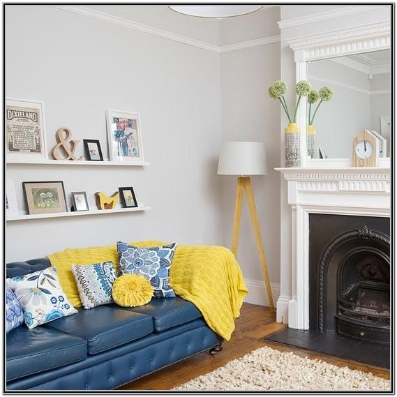 Blue Yellow Couch Living Room