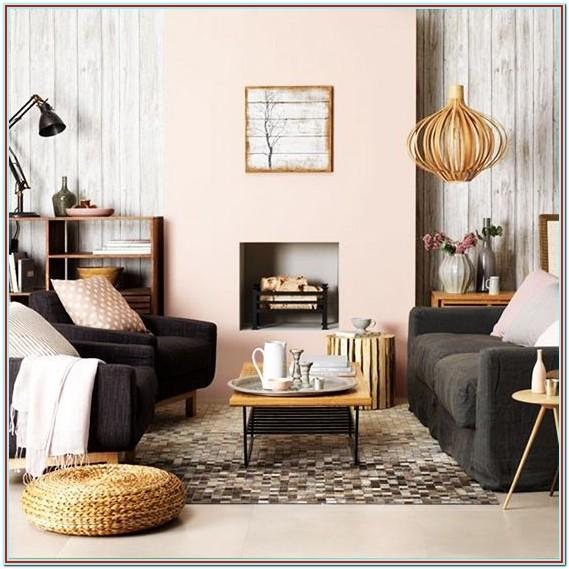 Blush Pink And Brown Living Room Decor