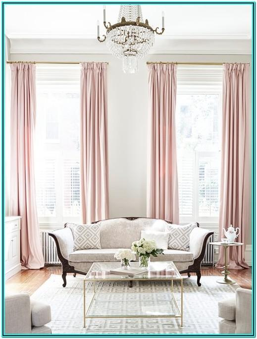 Blush Pink And Gold Living Room