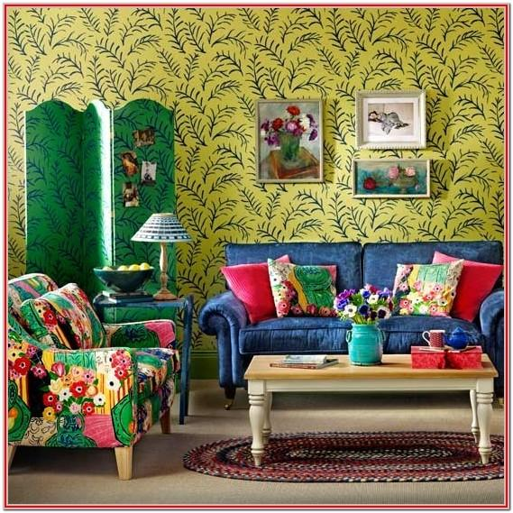 Bohemian Colorful Living Room Decor