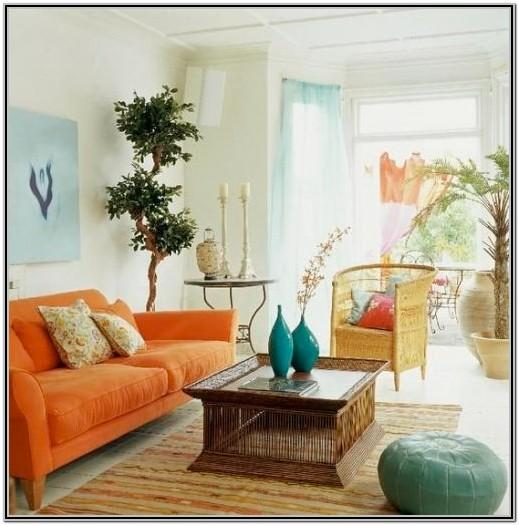 Bohemian Tropical Living Room Decor