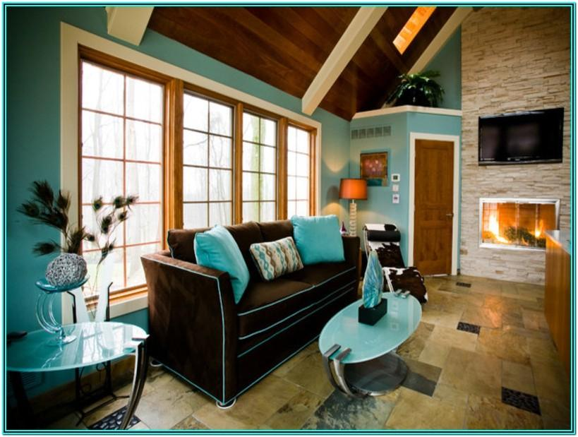 Brown And Turquoise Living Room Decorating Ideas