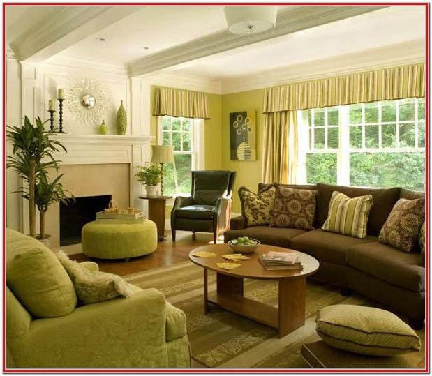 Brown And Yellow Living Room Decor