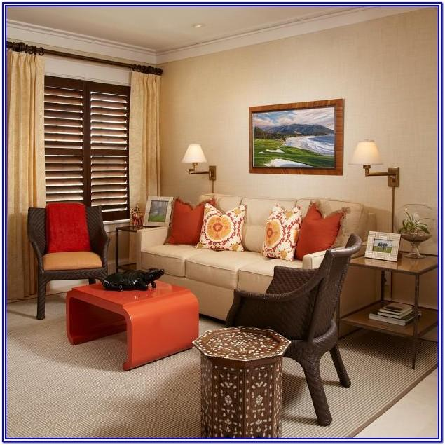 Brown Burnt Orange Living Room Ideas