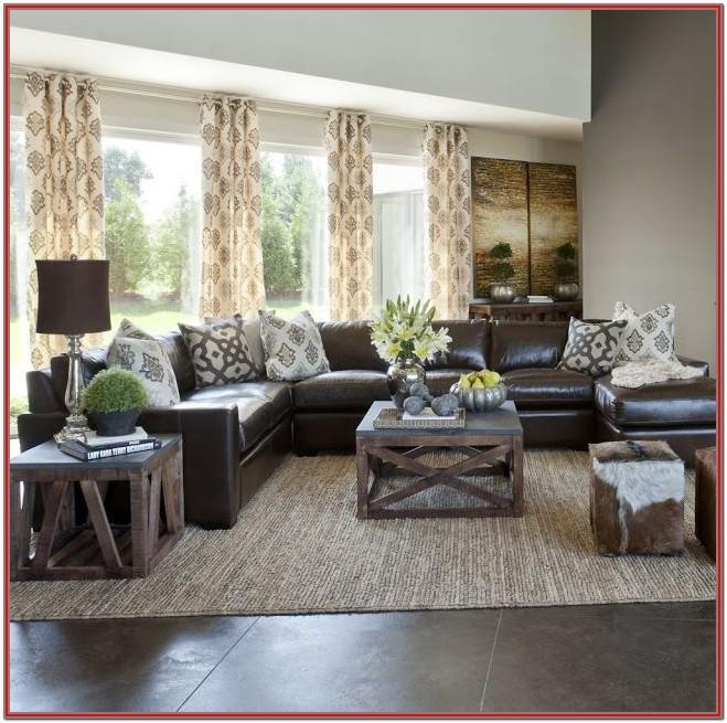 Brown Couch Living Room Design