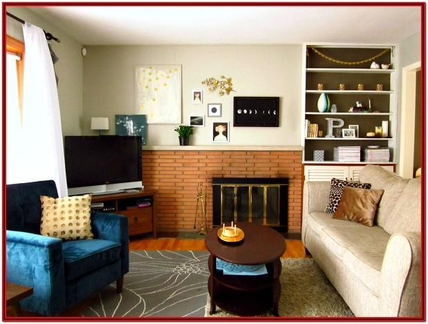 Brown Gray And Orange Living Room