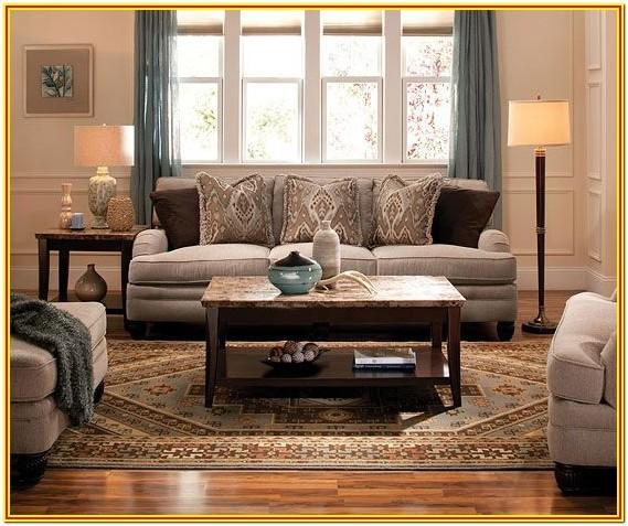 Brown Gray And Tan Living Room