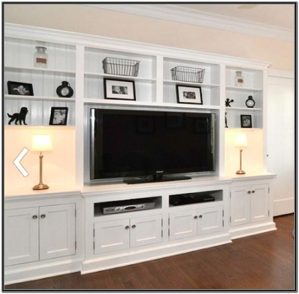 Built In Living Room Shelves And Cabinets