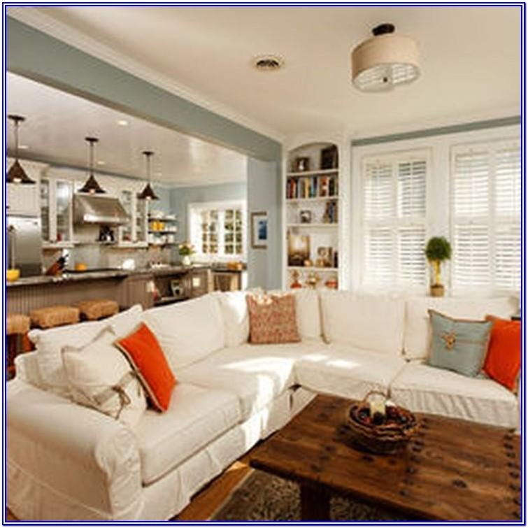 Burnt Orange And Teal Living Room