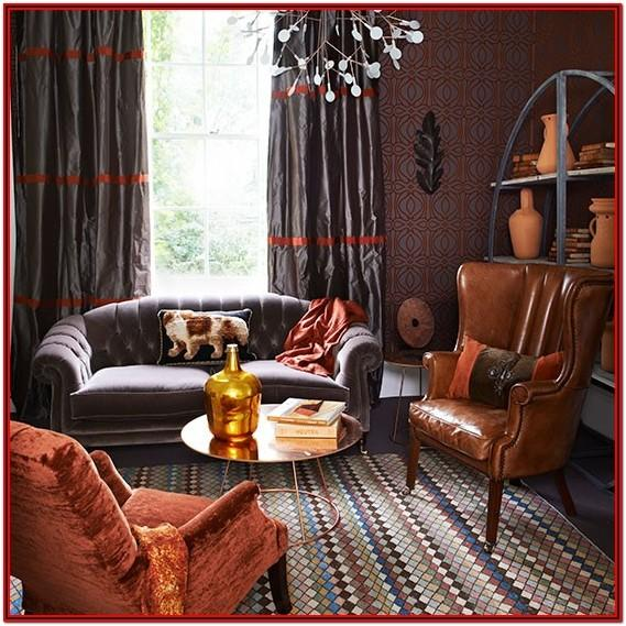 Burnt Orange Living Room Accessories