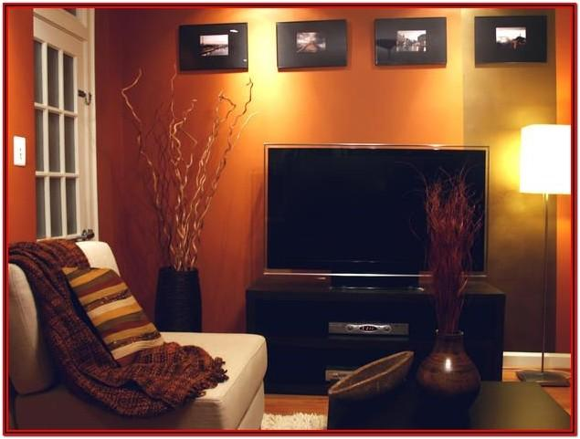 Burnt Orange Living Room Walls