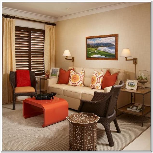 Burnt Orange Sofa Living Room Ideas
