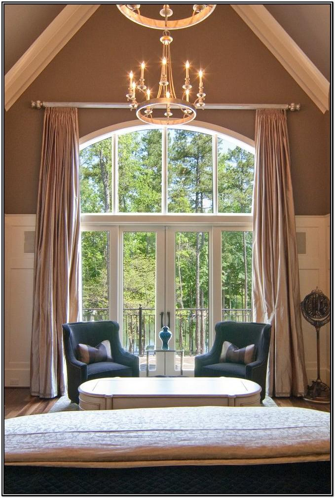 Cathedral Ceiling Living Room Curtain Ideas