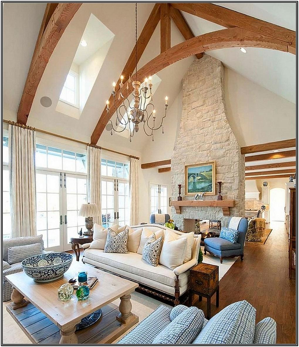Cathedral Ceiling Living Room Design Ideas