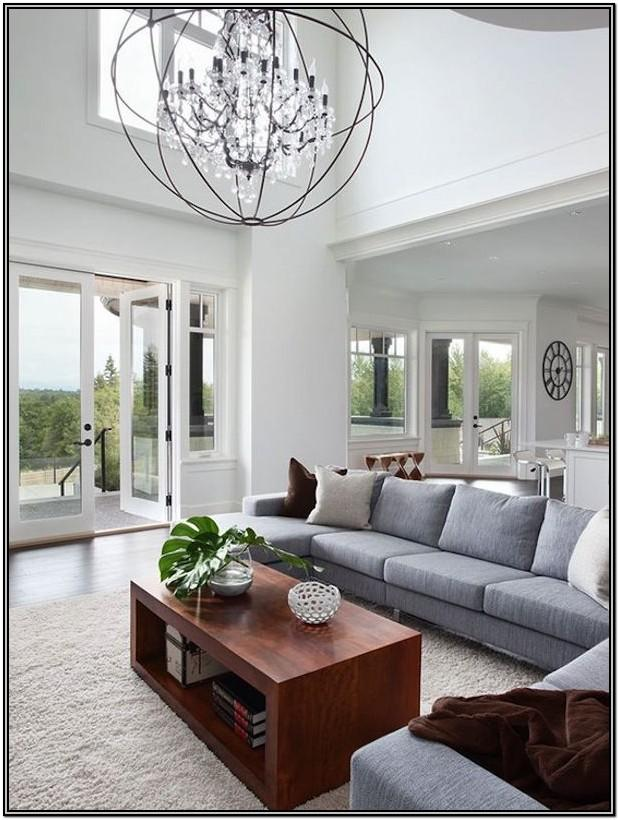 Chandelier Living Room Ceiling Lighting Ideas