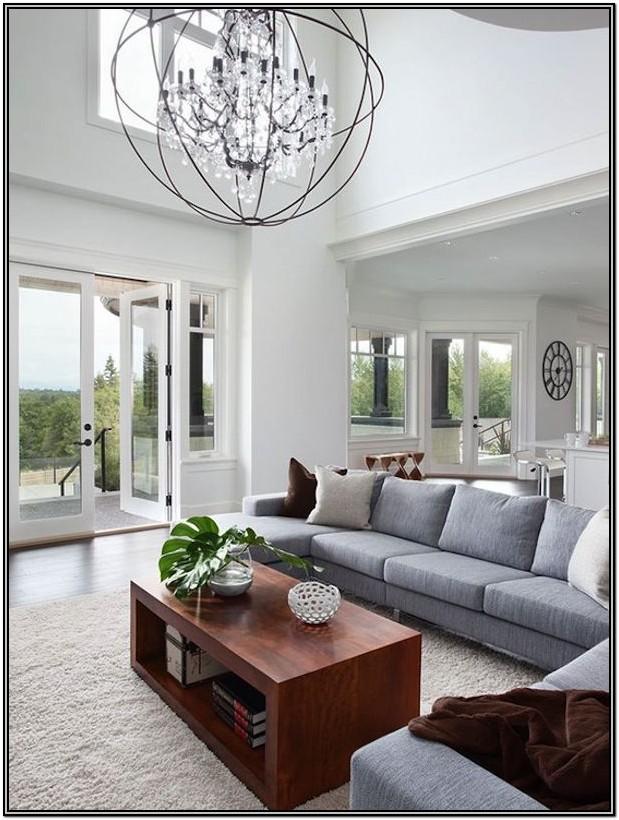 Chandelier Living Room Ceiling Lighting Ideas