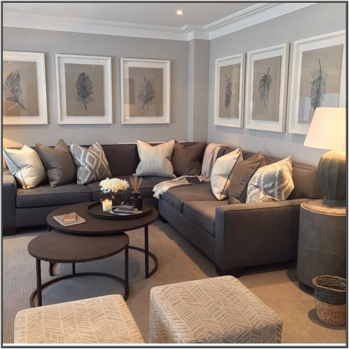 Contemporary Gray And Brown Living Room Ideas