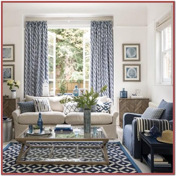 Dark Blue Living Room Curtains